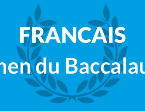 L'épreuve anticipée du Baccalauréat de Français