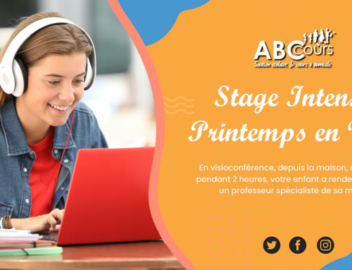 Stages intensifs Vacances Avril en Visio
